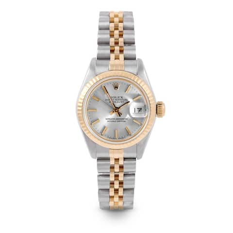 Pre-Owned Rolex 26mm Ladies Datejust Watch - 6917 Model - Steel & Yellow Gold - Silver Stick Dial - Fluted Bezel - Jubilee Band