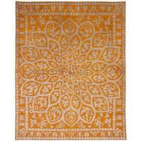 eCarpetGallery  Hand-knotted La Seda Orange  Rug - 7'4 x 9'4