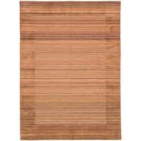 eCarpetGallery  Hand-knotted Luribaft Gabbeh Riz Brown, Copper Wool Rug - 5'7 x 7'9
