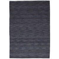 eCarpetGallery Luribaft Gabbeh Riz Blue Wool Hand-knotted Rug (5'1 x 7'6)