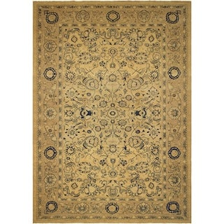 Kafkaz Sun-Faded Jerrie Lt. Brown/Tan Hand-Knotted Rug (12'3 x 17'10) - 12 ft. 3 in. x 17 ft. 10 in.