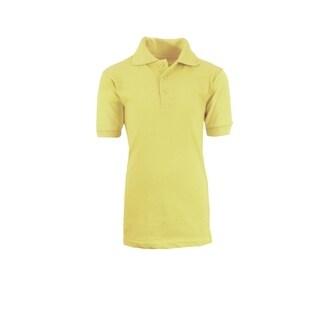 Galaxy By Harvic Boy's Yellow Short Sleeve School Uniform Polo Shirts - Sizes 4-20