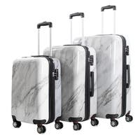 Marble 3-Piece TSA Lock Expandable Hardside Spinner Luggage Set