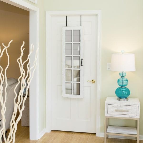 """FirsTime® White Window Jewelry Armoire - 47""""H x 14""""W x 3""""D"""