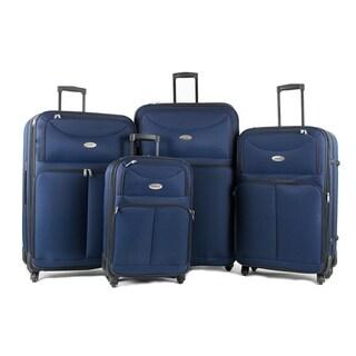 AMKA Voyage 4-Piece Expandable Spinner Luggage Set