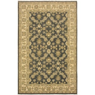 Kafkaz Peshawar Jack Charcoal/Blue Hand-Knotted Rug (4'1 x 6'4) - 4 ft. 1 in. x 6 ft. 4 in.