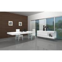 CE Cloud High-Gloss White Wood and Glass Buffet