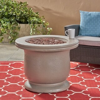 Cardiff Outdoor Gas Burning Fire Pit by Christopher Knight Home (2 options available)