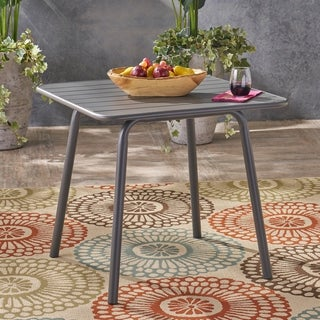 Lacina Outdoor Iron Dining Table by Christopher Knight Home