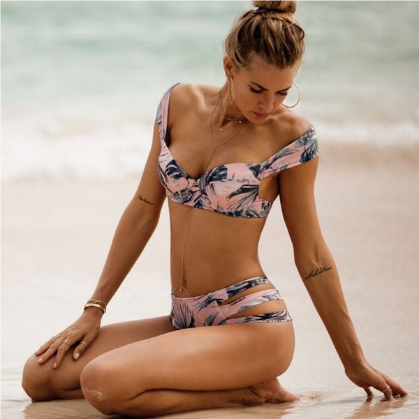 fa854df807 Acappella Women Sexy Bikini Floral Printed Push up Swimsuit Beachwear