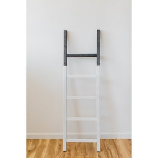 Two Tone Grey and White 60in Decorative Accent Ladder