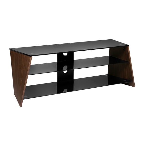 Shop Onespace Twisted Wood Walnut Veneer Tv Stand With Black