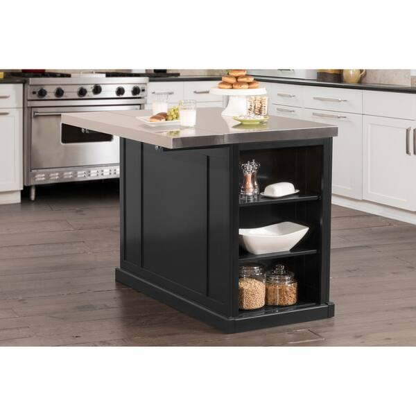 Shop Hillsdale Furniture Flemington Kitchen Island W Stainless Steel Top Overstock 21904586