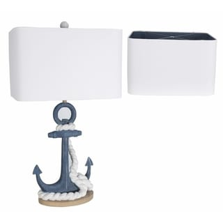 Lamps Per Se 33.5- inch Navy Anchor Table Lamp