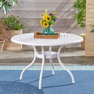Phoenix Outdoor Aluminum Dining Table by Christopher Knight Home
