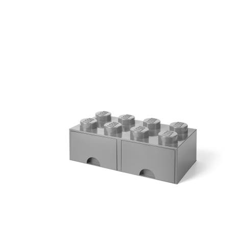 LEGO Storage Brick Drawer 8, Med Stone Grey