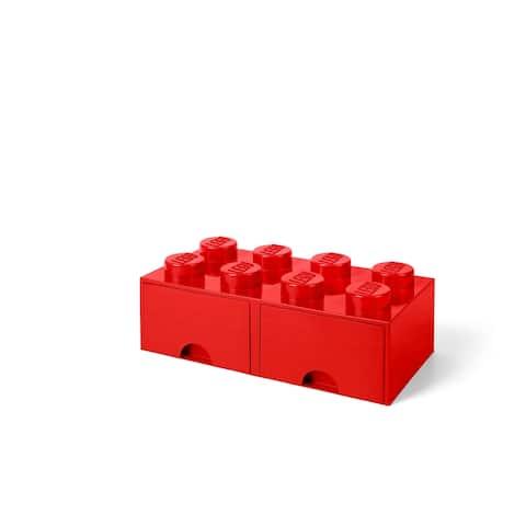 LEGO Storage Brick Drawer 8, Bright Red