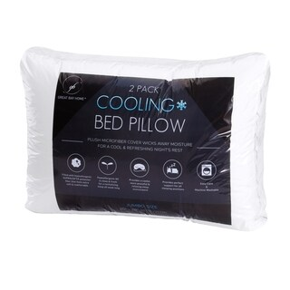 Springs Home Plush Cooling Hypoallergenic Fiber Filled Bed Pillow