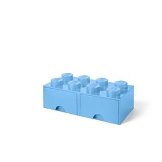 LEGO Storage Brick Drawer 8, Light Royal Blue