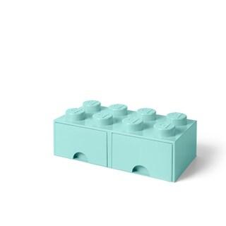 LEGO Storage Brick Drawer 8, Aqua Light Blue