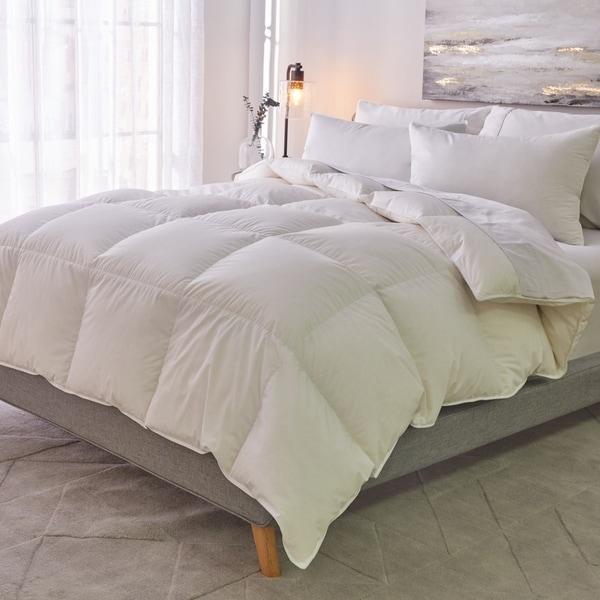 shop 1221 bedding cotton sateen down alternative king size comforter lightweight as is item. Black Bedroom Furniture Sets. Home Design Ideas