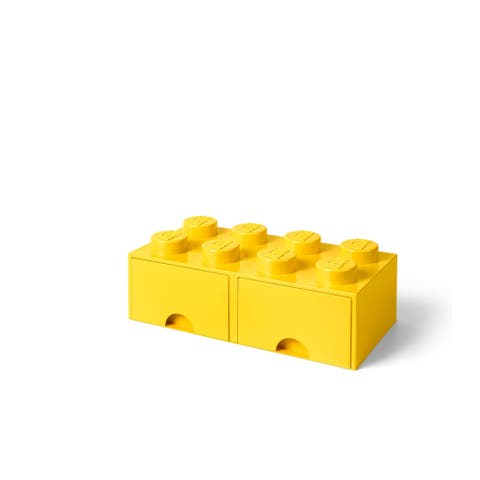 LEGO Storage Brick Drawer 8, Bright Yellow