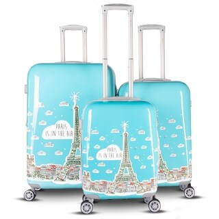 Gabbiano Paris Collection 3 Piece Expandable Hardside Spinner Luggage Set (2 options available)