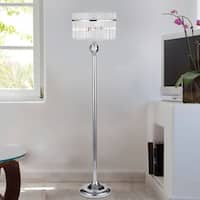 Brunella Chrome 3-Light Floor Lamp with Crystal Clear Shade