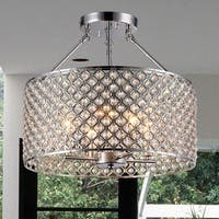 Yasmin Chrome 1-Light Semi-Flushmount with Crystal Clear Shade