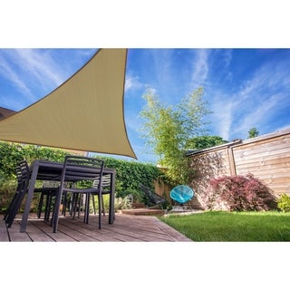 Ready to Hang Shade Sail 12' Tri Latte