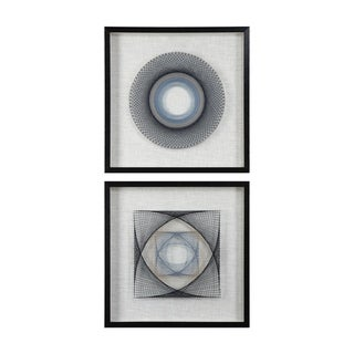 Uttermost String Duet Black Geometric Art (Set of 2) - Blue