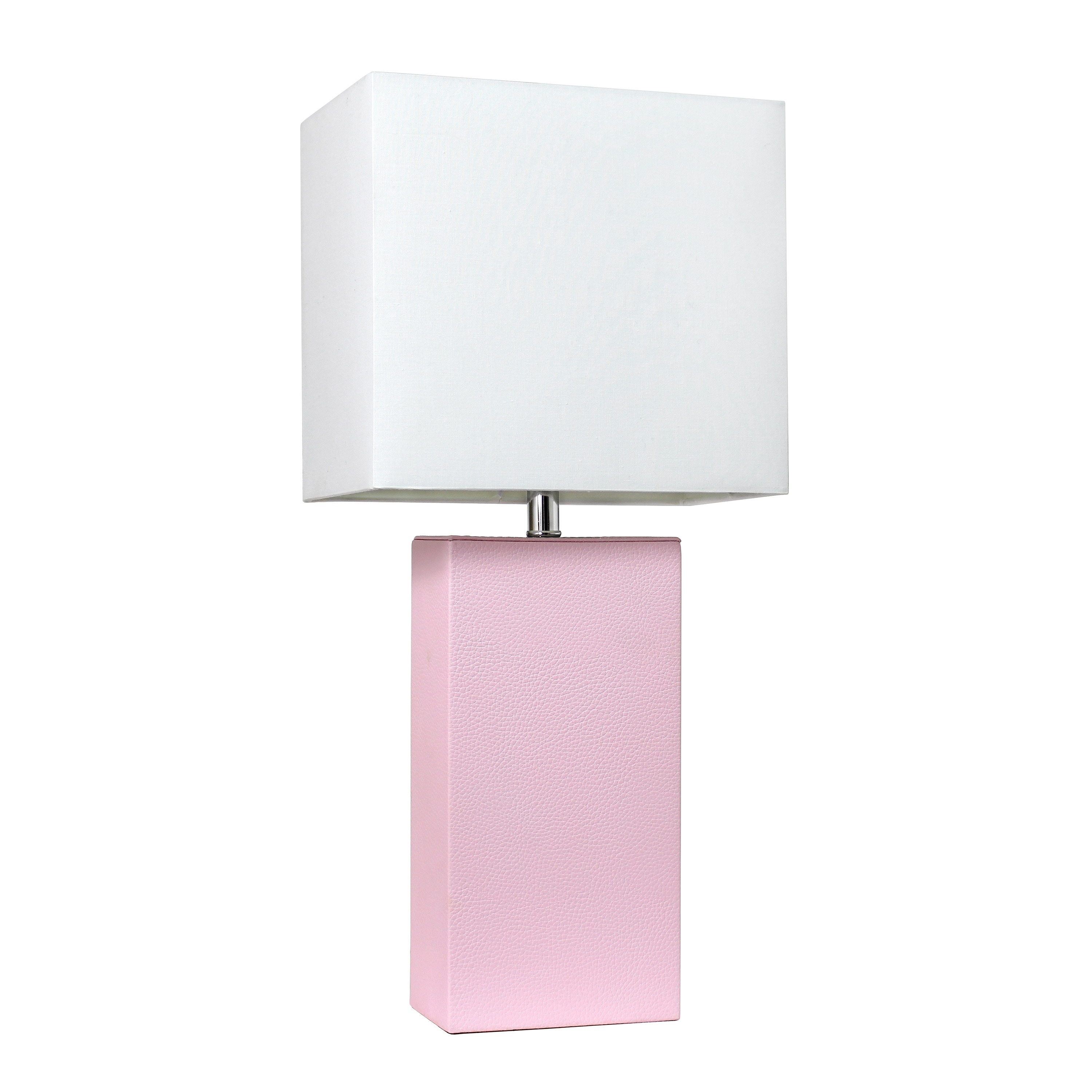 Picture of: Shop Black Friday Deals On Porch Den Fairway Blush Pink Leather Table Lamp With White Fabric Shade Overstock 21905727
