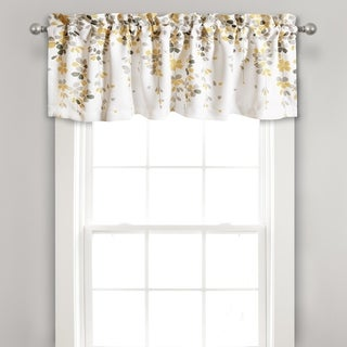 Lush Decor Weeping Flower Room Darkening Window Curtain Valance