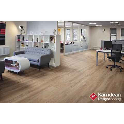 Canaletto by Karndean Designflooring - Sandal Oak Waterproof Loose Lay LVT 41.3x9.85/12 pcs/33.89 sqft