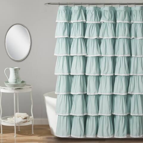 Lush Decor Lace Ruffle Shower Curtain
