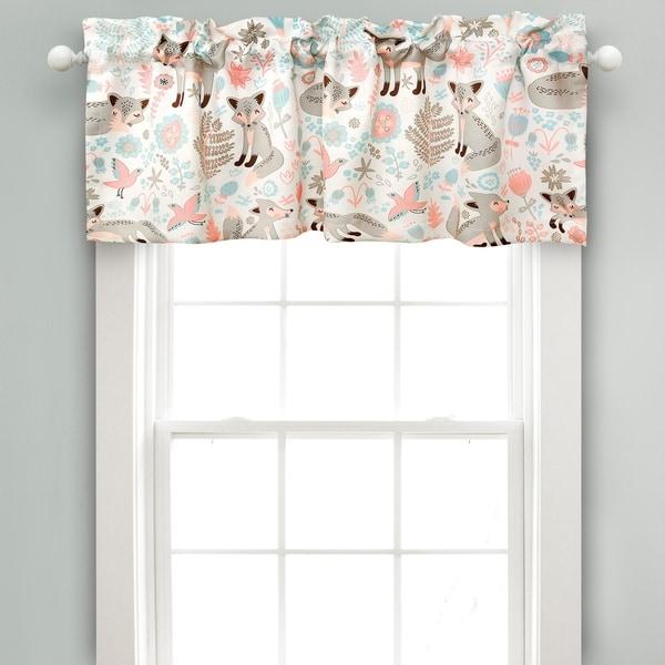 Lush Decor Pixie Fox Room Darkening Window Curtain Valance - 52x18