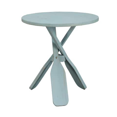 Somette Breakers Blue Rub Oar Table