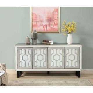Christopher Knight Home Four Door Media Credenza (Silver)