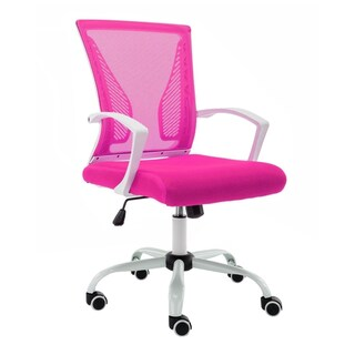 Modern Home Zuna Mid-Back Office Chair (Option: White/Pink)