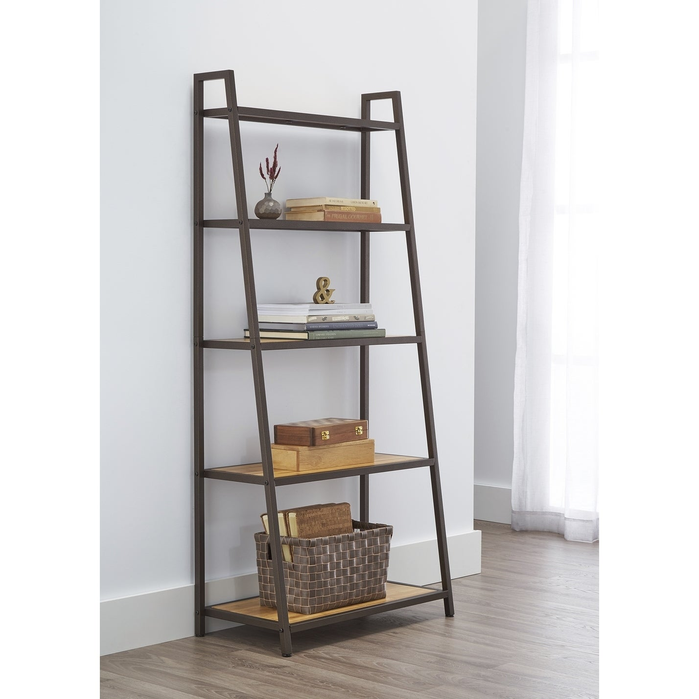 Trinity Bronze Anthracite 5 Tier Leaning Rack