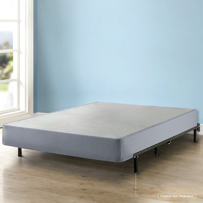 Queen Size 9 Inch Heavy Duty Steel Box Spring Gray by Crown Comfort