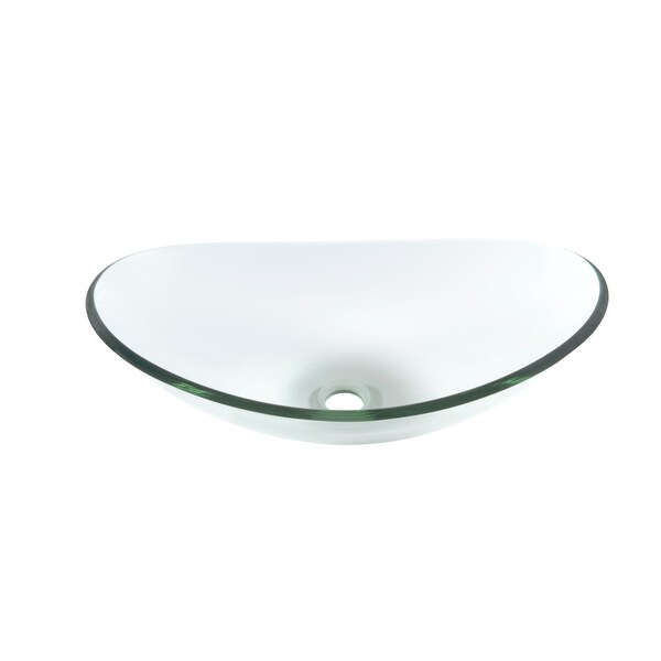 Topia Oval Clear Glass Vessel Sink
