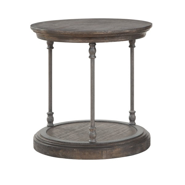 Somette Corbin Medium Brown Round End Table. Opens flyout.