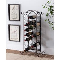 Brushed Copper Metal Wine Rack