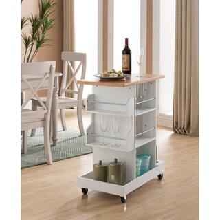 White Wood Kitchen Storage Cart