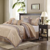 Nanshing Riley Sand 7-piece Bedding Comforter Set - Brown/Sand