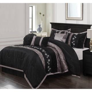 Link to Grand Avenue Stella Black 7-piece Bedding Comforter Set Similar Items in Comforter Sets