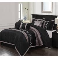Nanshing Riley Black 7-piece Bedding Comforter Set