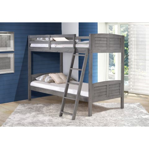 Taylor & Olive Dardanelle Kids Antique Grey Twin over Twin Bunk Bed