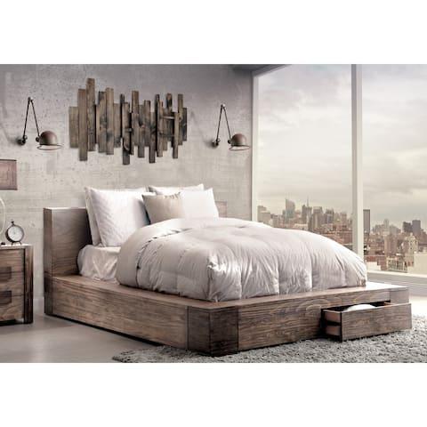 Furniture of America Shaylen II Rustic Natural Tone Storage Bed